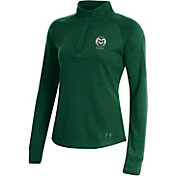 Under Armour Women's Colorado State Rams Green Double Knit Quarter-Snap Shirt