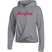 Under Armour Women's Maryland Terrapins Grey Wrap Pullover Hoodie