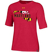 Under Armour Women's Maryland Terrapins Red 'Maryland Pride' Tri-Blend T-Shirt