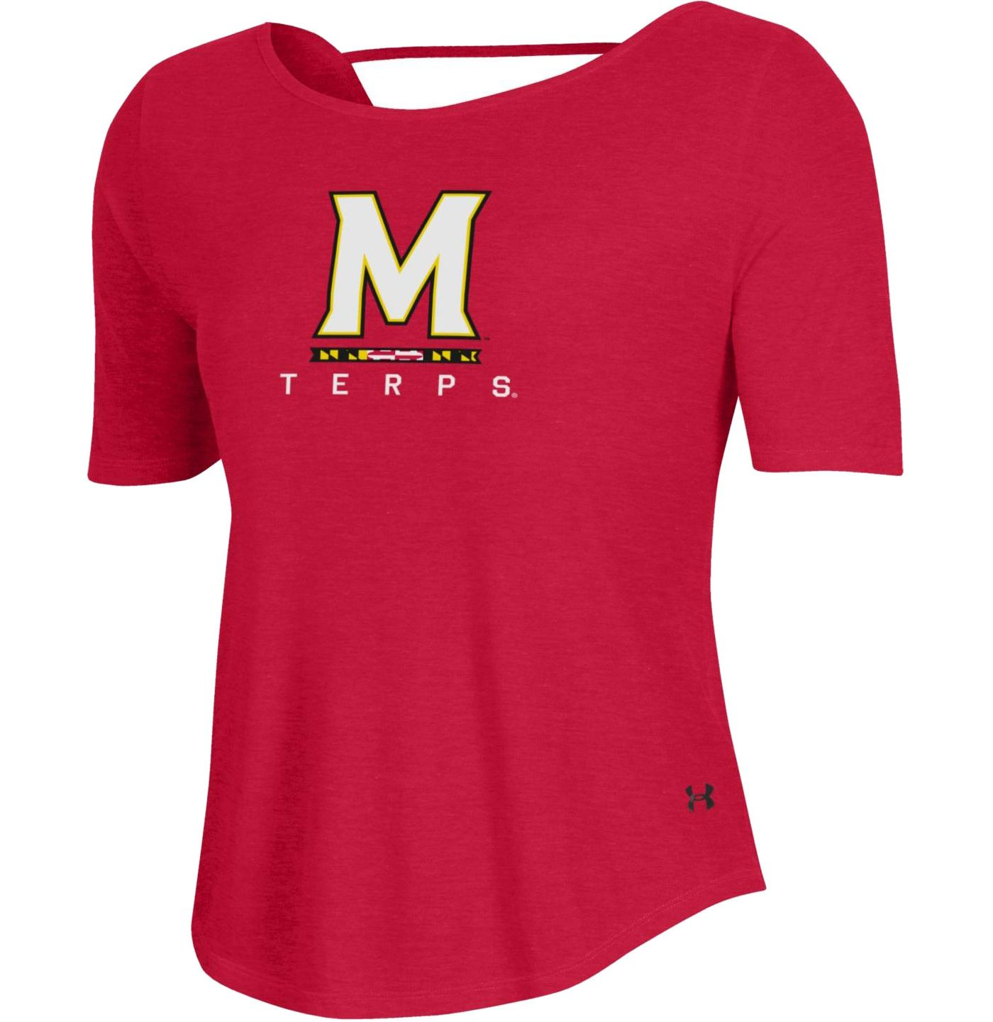 Under Armour Women's Maryland Terrapins Red Lux Short Sleeve Performance T-Shirt