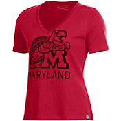 Under Armour Women's Maryland Terrapins Red Performance V-Neck T-Shirt