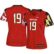 Under Armour Women's Maryland Terrapins #19 Red Replica Football Jersey