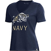Under Armour Women's Navy Midshipmen Navy Performance V-Neck T-Shirt