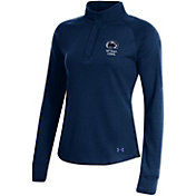 Under Armour Women's Penn State Nittany Lions Blue Double Knit Quarter-Snap Shirt