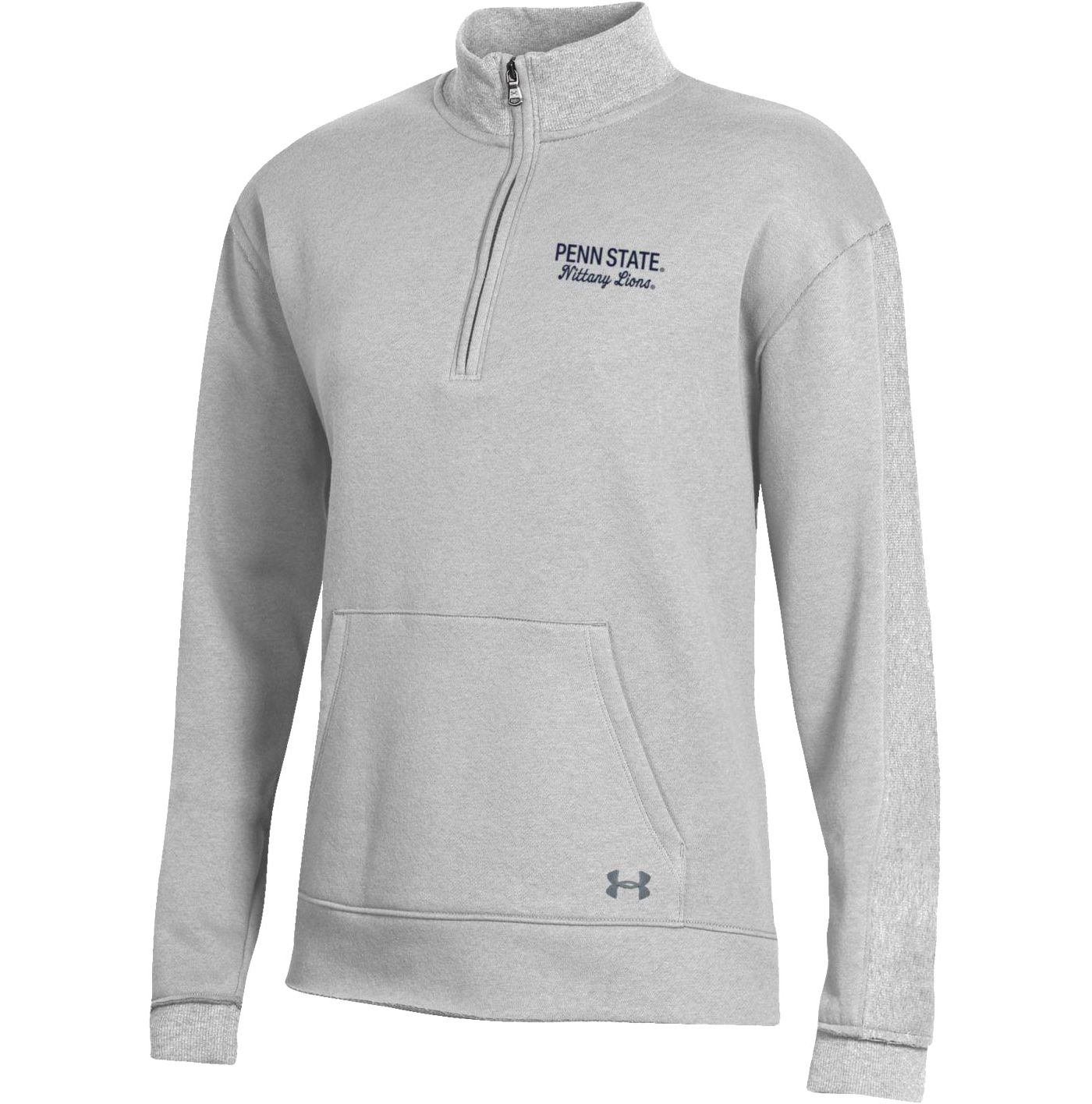 Under Armour Women's Penn State Nittany Lions Grey All Day Quarter-Zip Shirt
