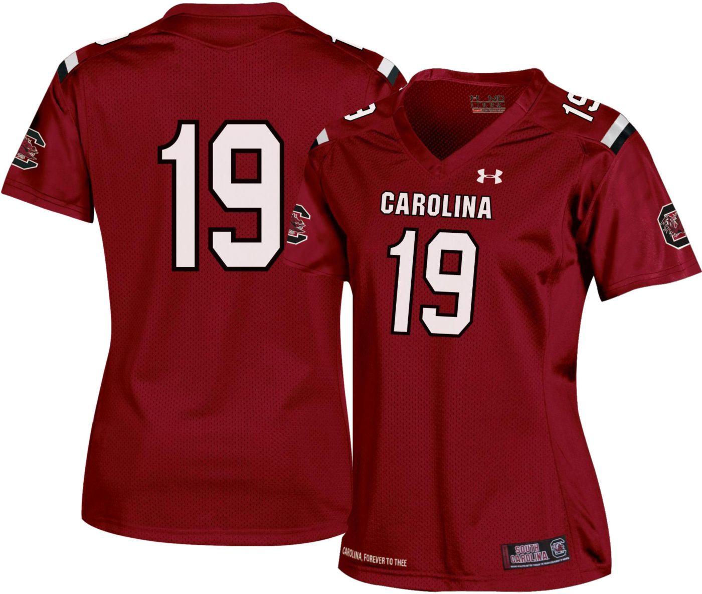 Under Armour Women's South Carolina Gamecocks #19 Garnet Replica Football Jersey