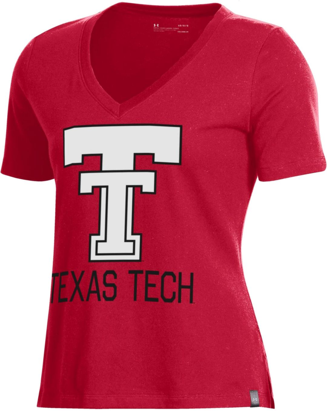 wholesale dealer 9337f 81a5b Under Armour Women's Texas Tech Red Raiders Red Performance V-Neck T-Shirt