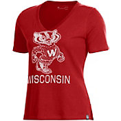 Under Armour Women's Wisconsin Badgers Red Performance V-Neck T-Shirt