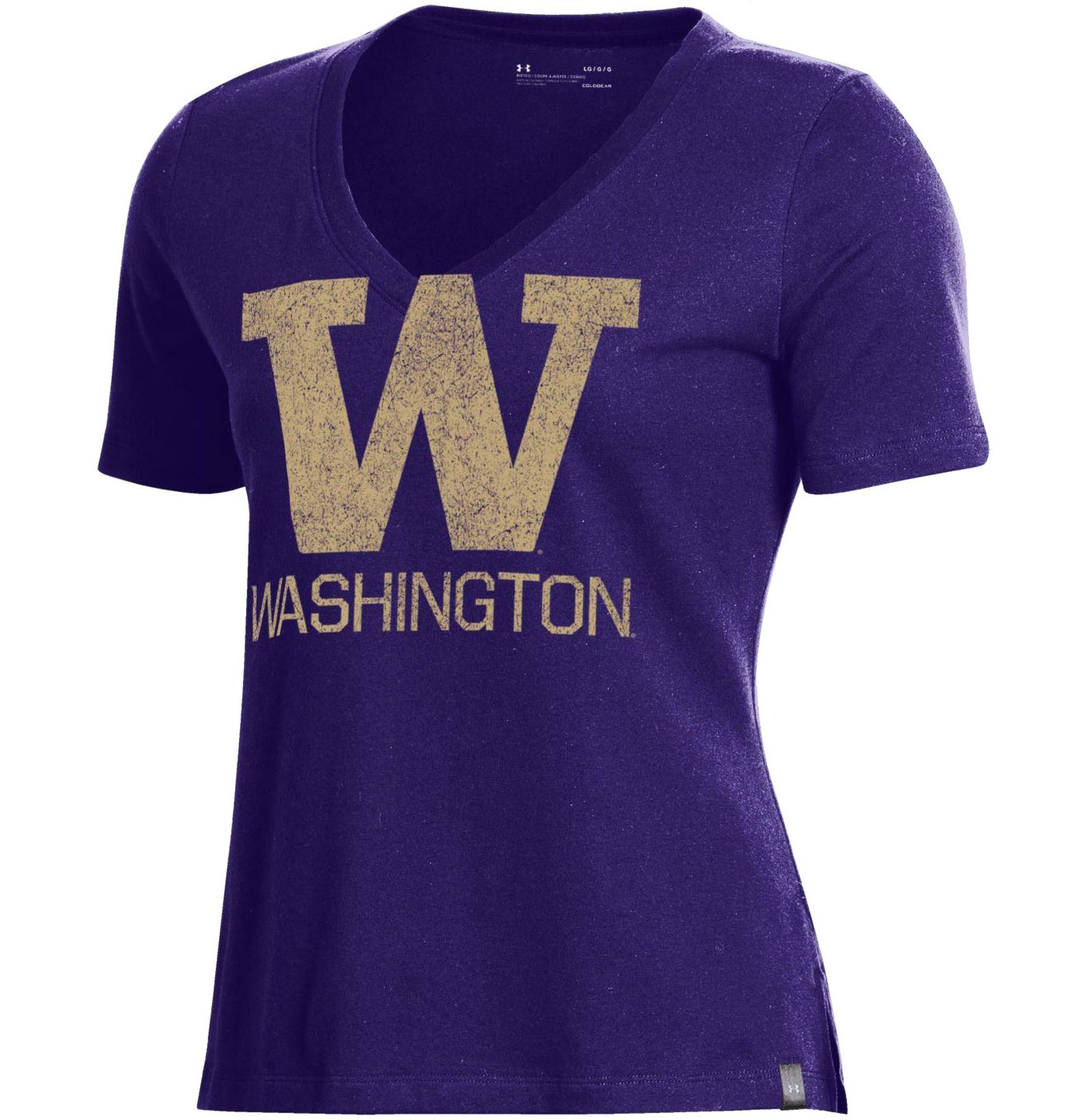 Under Armour Women's Washington Huskies Purple Performance V-Neck T-Shirt