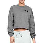 Under Armour Women's Rival Fleece Graphic Cropped Crewneck