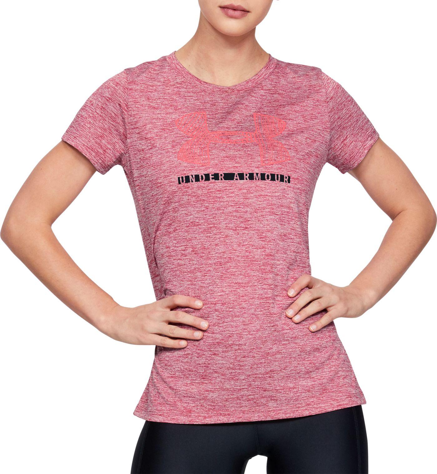 Under Armour Women's Tech Sportstyle Logo Graphic T-Shirt