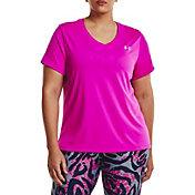 Under Armour Women's Tech Solid V-Neck T-Shirt