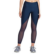 Under Armour Women's Project Rock HeatGear Armour Mesh Ankle Crop Leggings