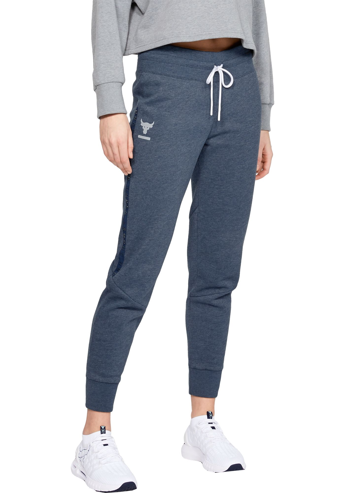 Under Armour Women's Project Rock Taped Fleece Pants