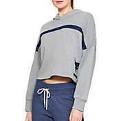 1248236d6 Product Image · Under Armour Women's Project Rock Taped Fleece Hoodie