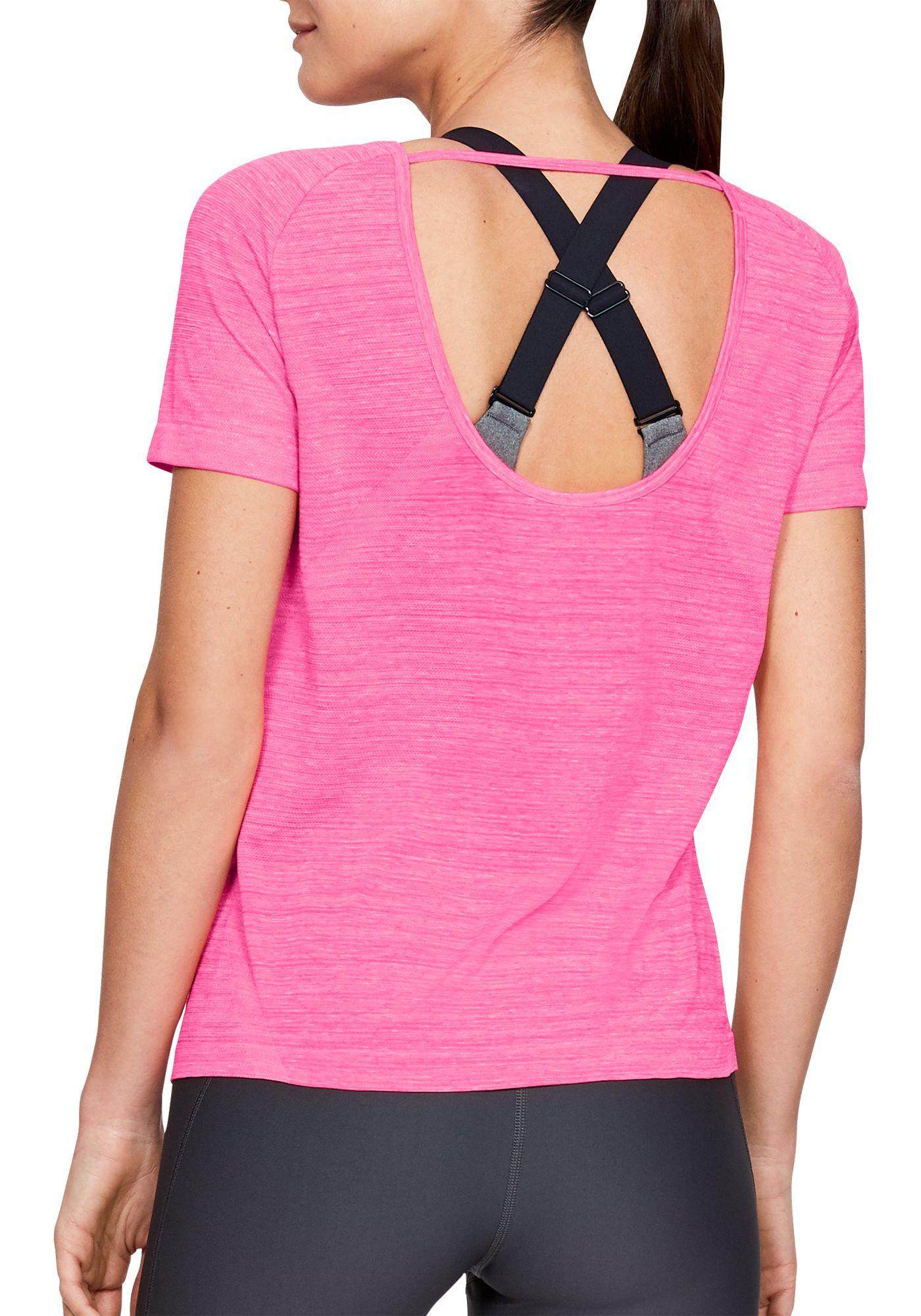 Under Armour Women's Vanish Seamless Spacedye Keyhole T-Shirt