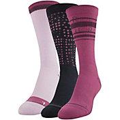 Under Armour Women's Phenom 3.0 Crew Socks - 3 Pack