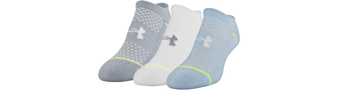 Under Armour Women's Phenom No Show Socks -3 Pack