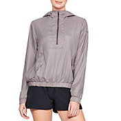 Under Armour Women's Windbreaker 1/2 Zip Anorak Jacket