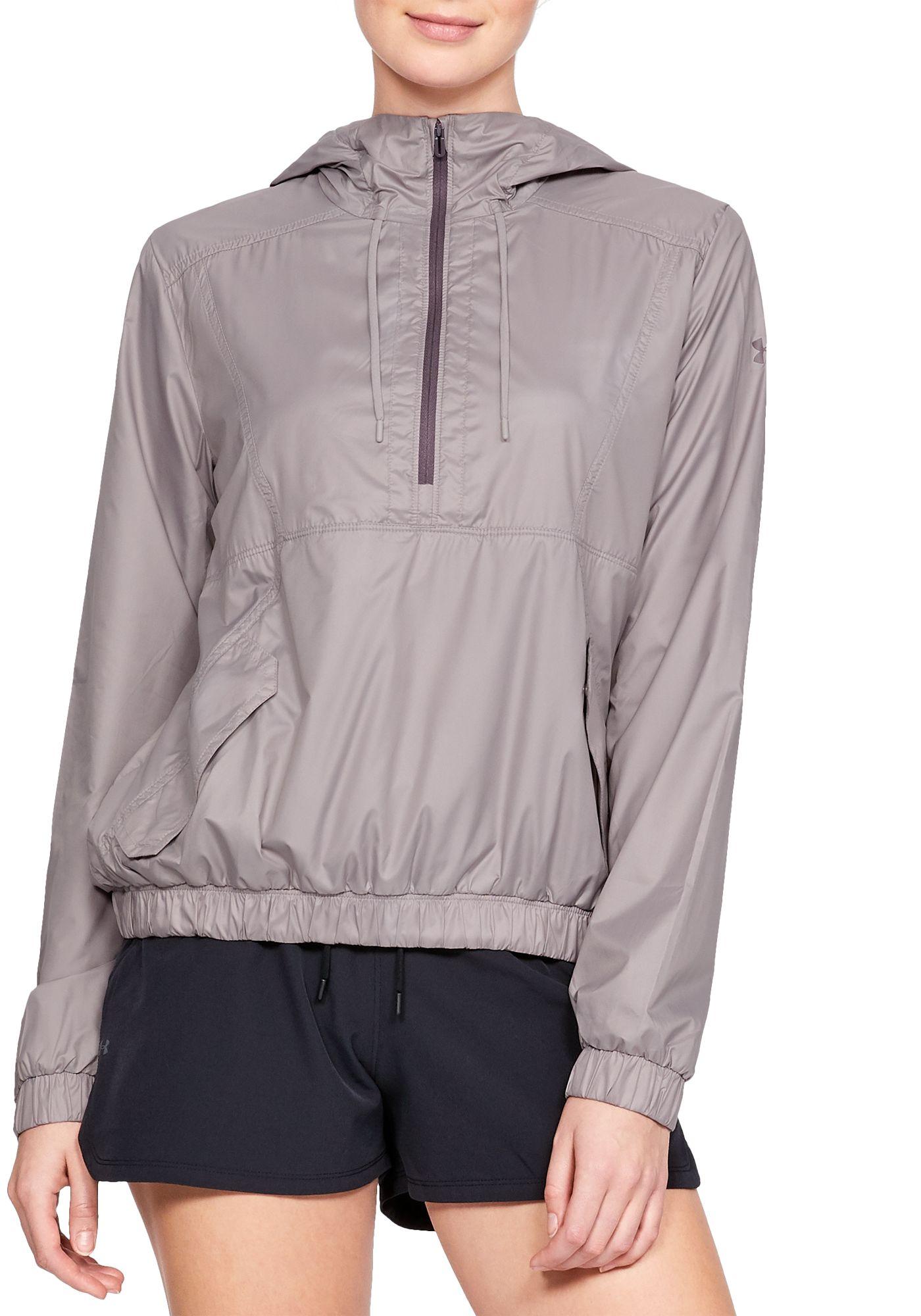 Under Armour Women's Windbreaker 1/2 Zip Anorak Jacket