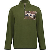 Under Armour Boys' Camo 1/4 Zip Long Sleeve Fleece Jacket