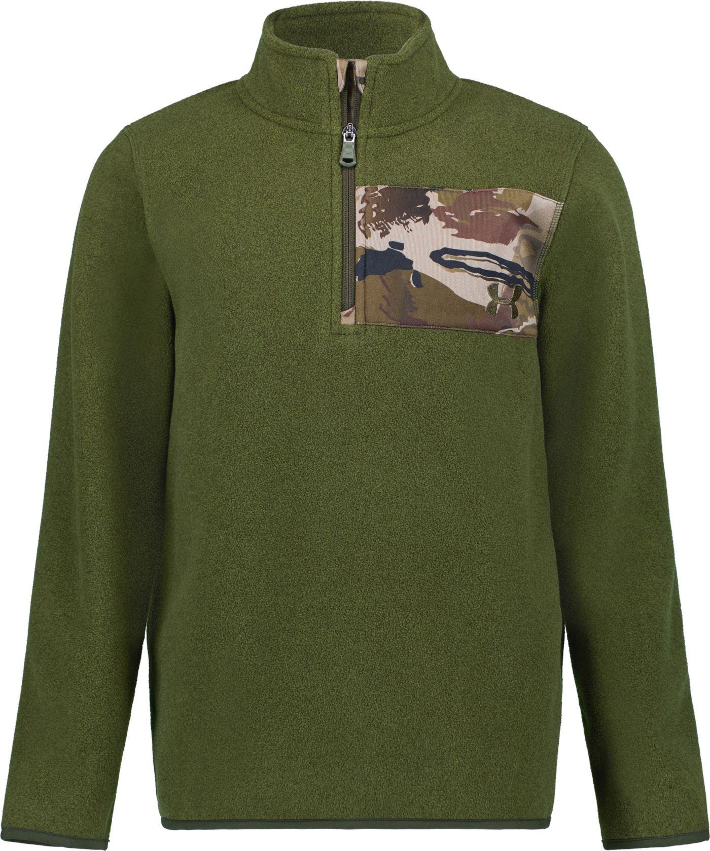 Under Armour Boys' Camo 1/4 Zip Long Sleeve Fleece Jacket
