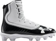 4d5775422 Under Armour Kids' Highlight RM Football Cleats. Black/White