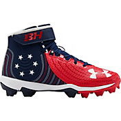 Under Armour Kids' Harper 4 Mid RM Baseball Cleats