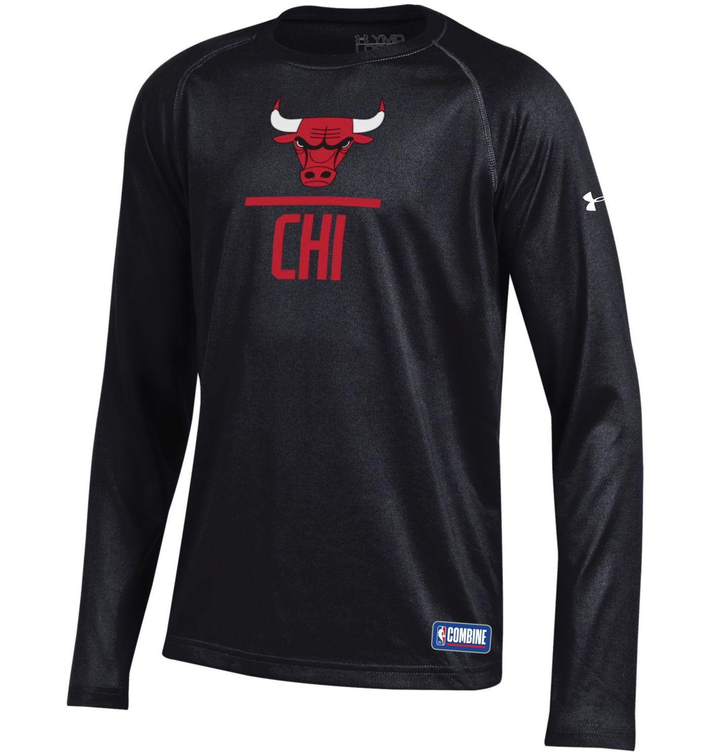 Under Armour Youth Chicago Bulls Lockup Long Sleeve Shirt