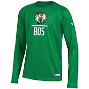 Under Armour Youth Boston Celtics Lockup Long Sleeve Shirt