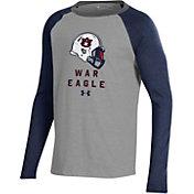 Under Armour Youth Auburn Tigers Grey/Blue Performance Cotton Football T-Shirt