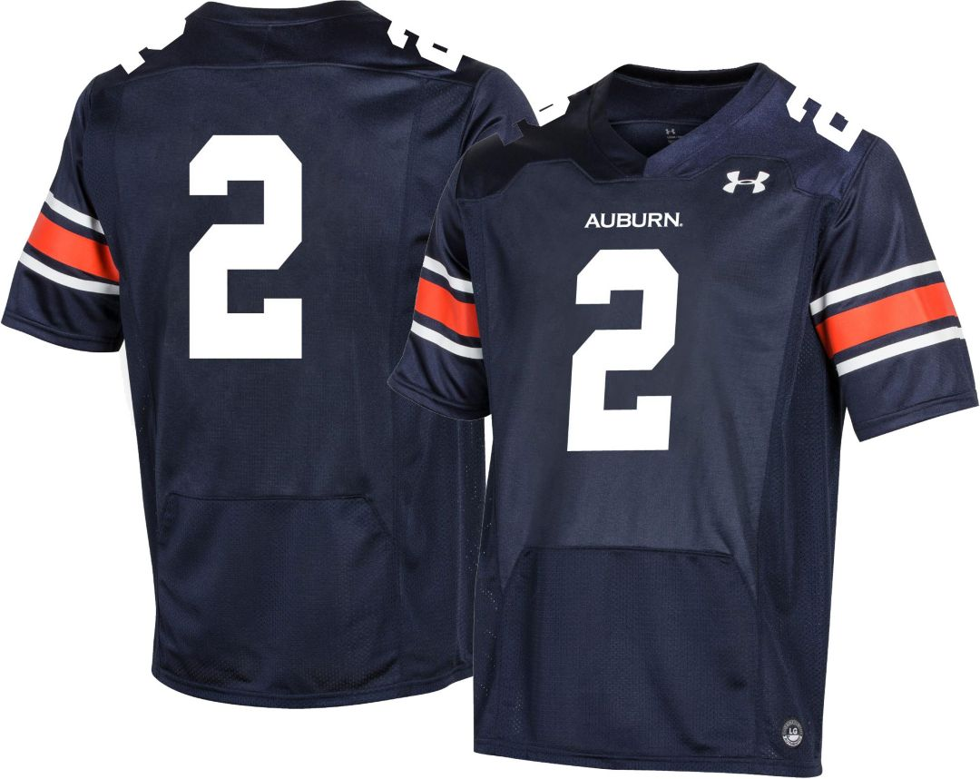 Under Armour Youth Auburn Tigers 2 Blue Replica Football Jersey
