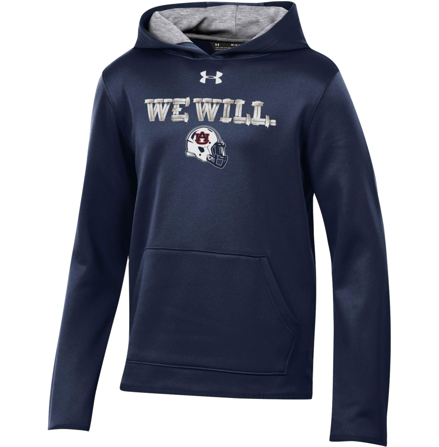 Under Armour Youth Auburn Tigers Blue 'We Will' Armourfleece Performance Football Hoodie