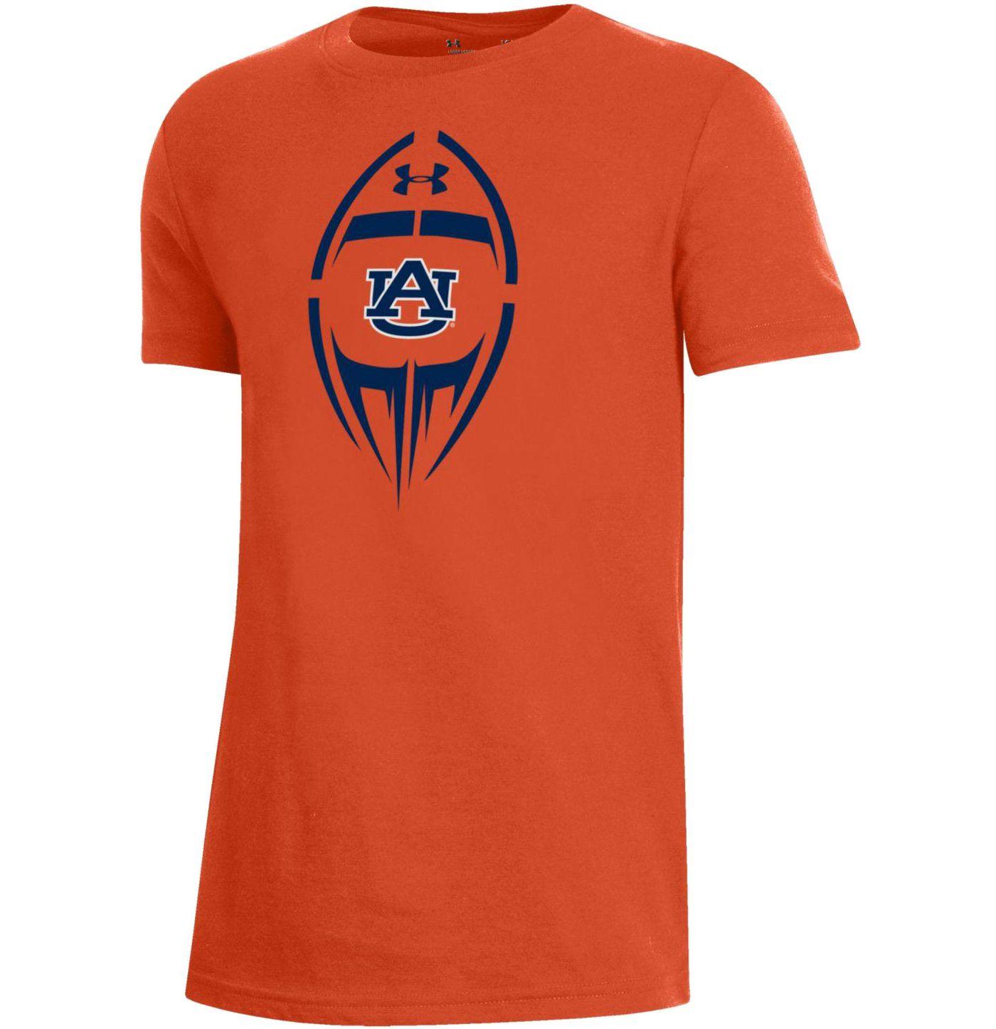 Under Armour Youth Auburn Tigers Orange Performance Cotton Football T-Shirt