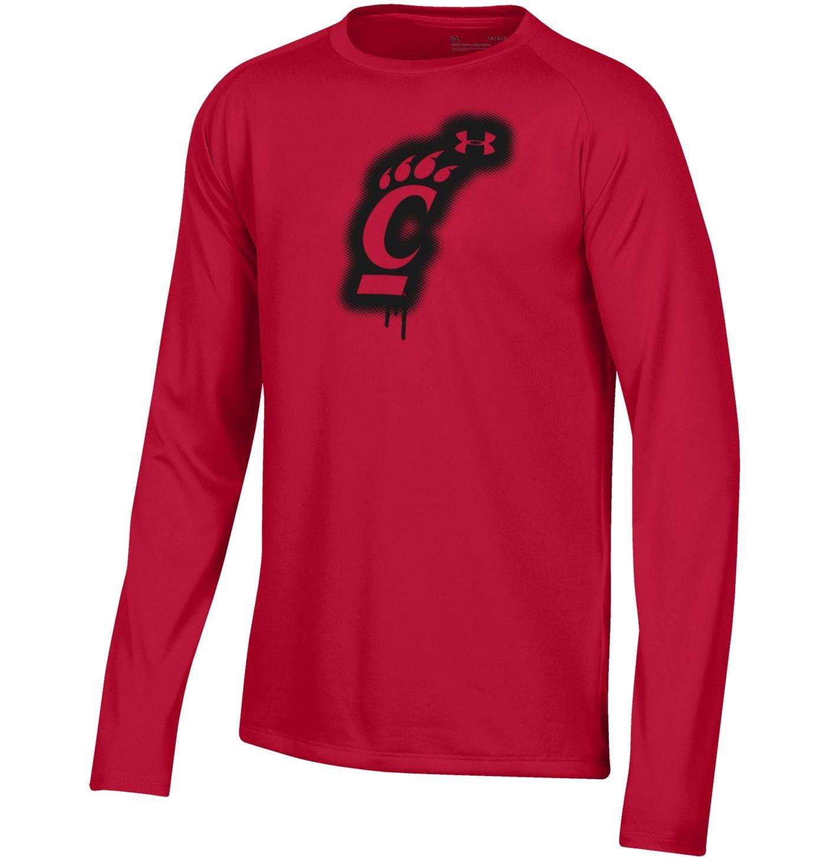 Under Armour Youth Cincinnati Bearcats Red Tech Performance Long Sleeve T-Shirt