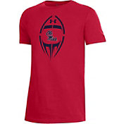 Under Armour Youth Ole Miss Rebels Red Performance Cotton Football T-Shirt