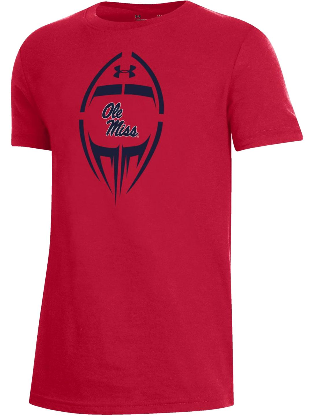 best website 66e12 29f3d Under Armour Youth Ole Miss Rebels Red Performance Cotton Football T-Shirt