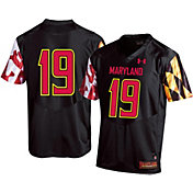 Under Armour Youth Maryland Terrapins #19 Garnet Replica Football Black Jersey
