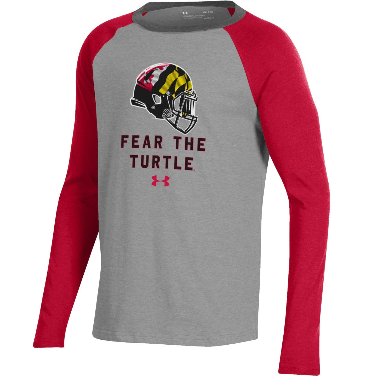 Under Armour Youth Maryland Terrapins Grey/Red Performance Cotton Football T-Shirt