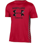 Under Armour Youth Maryland Terrapins Red Performance Novelty T-Shirt