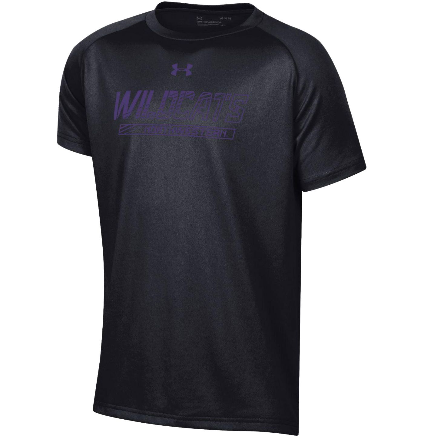 Under Armour Youth Northwestern Wildcats Tech Performance Black T-Shirt