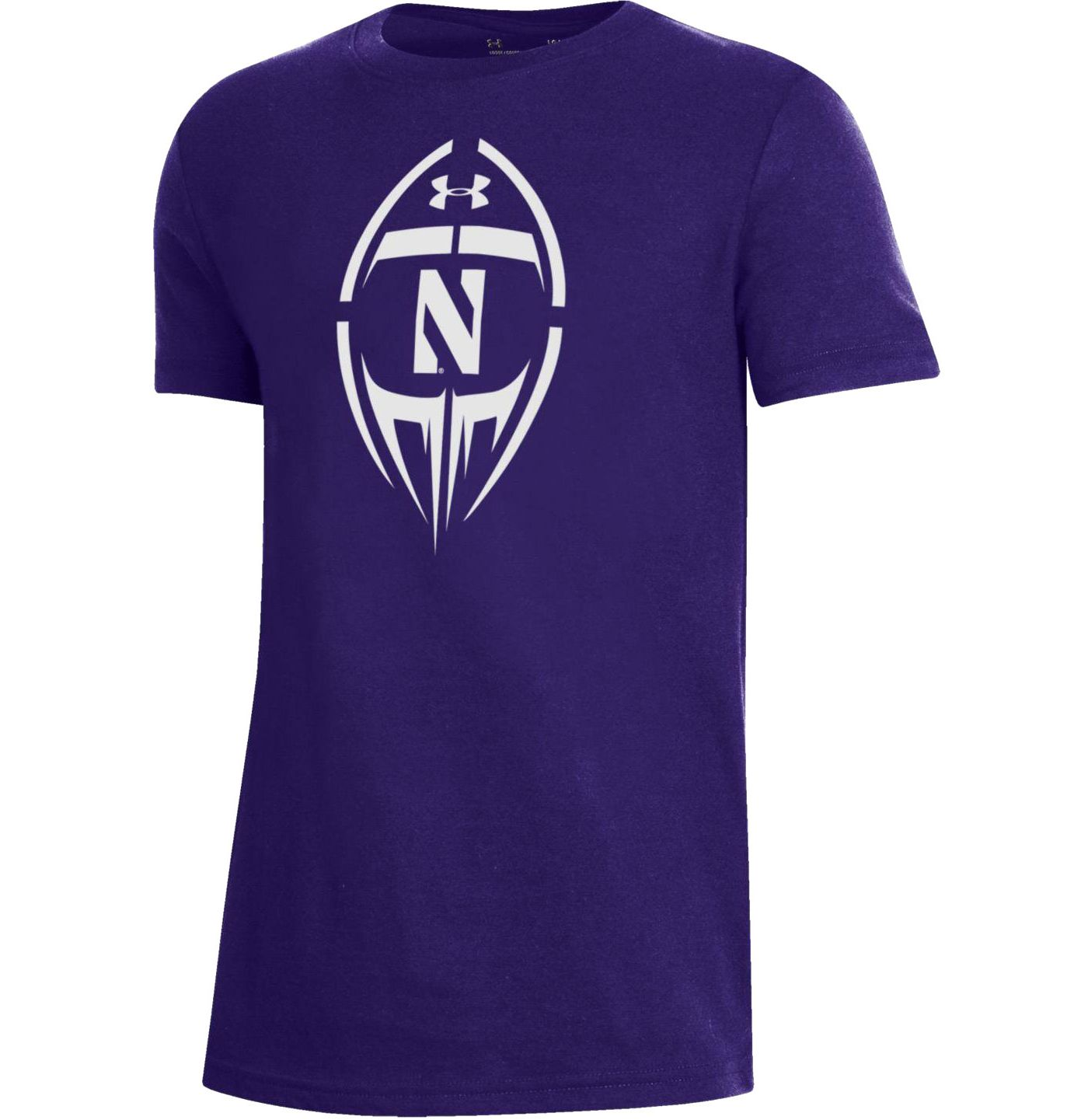 Under Armour Youth Northwestern Wildcats Purple Performance Cotton Football T-Shirt