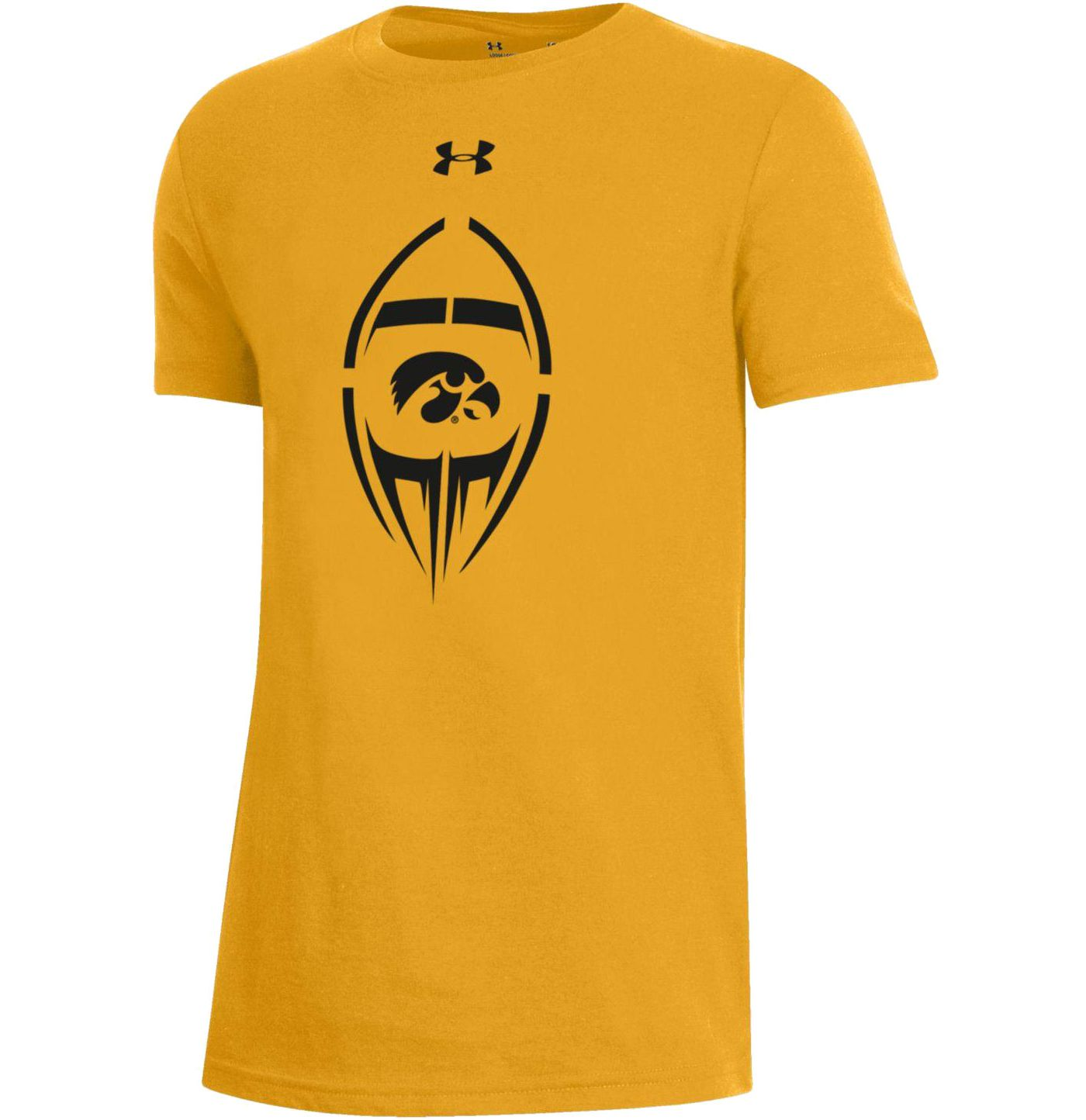 Under Armour Youth Iowa Hawkeyes Gold Performance Cotton Football T-Shirt