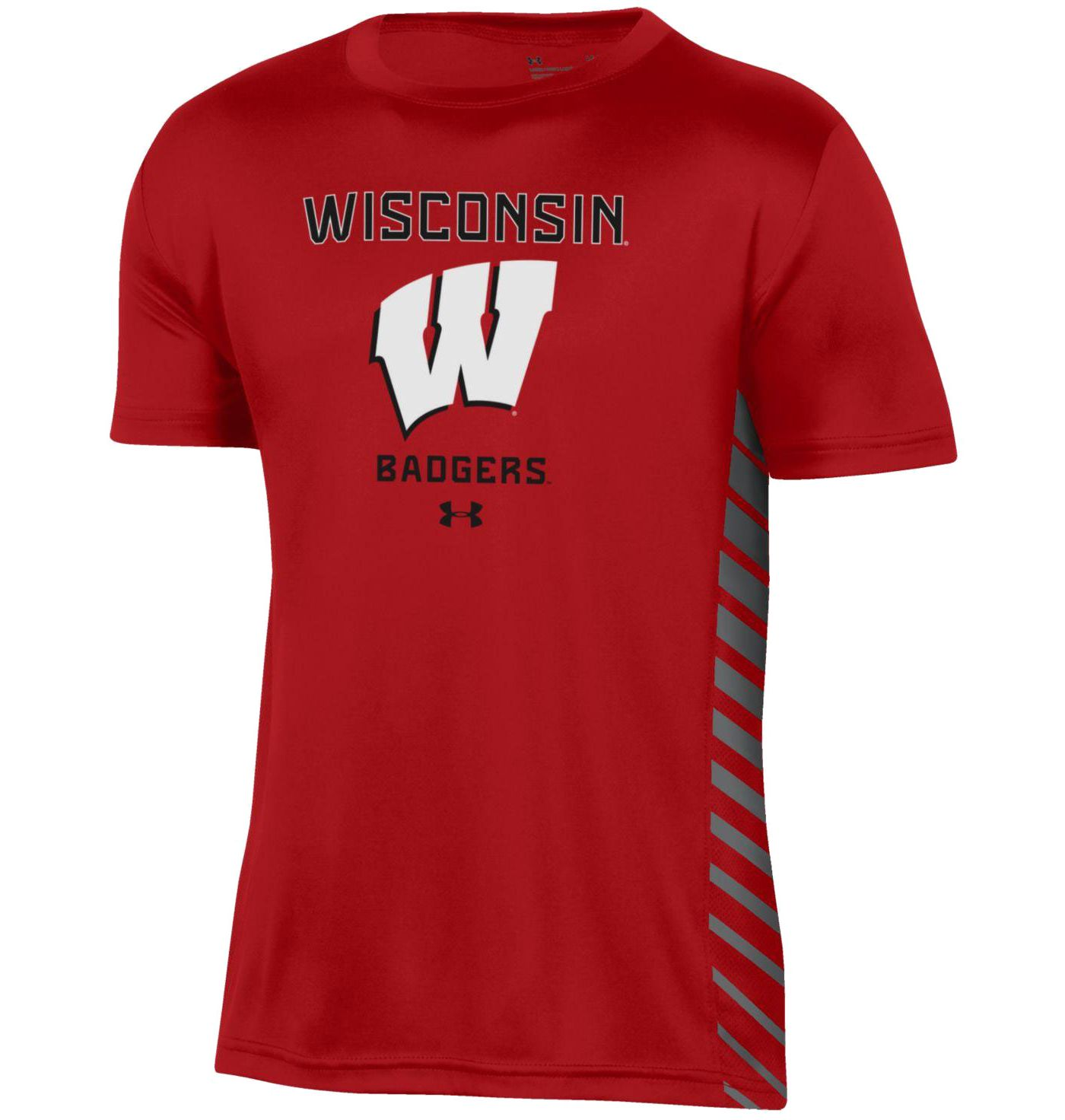 Under Armour Youth Wisconsin Badgers Red Performance Novelty T-Shirt