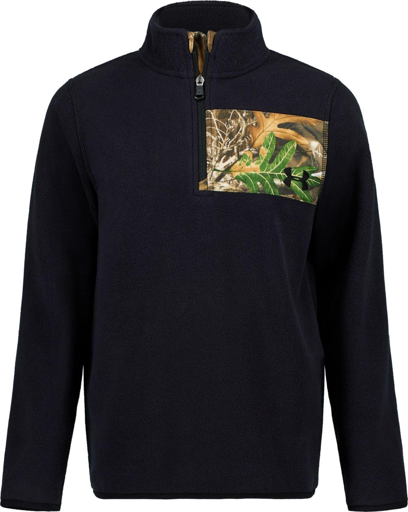 Under Armour Boys' Real Tree Edge Camp 1/4 Zip Long Sleeve Fleece Jacket