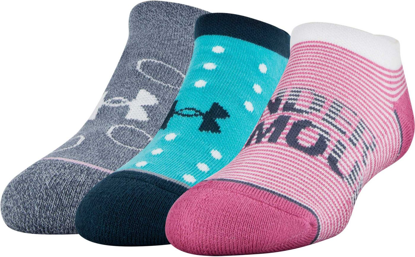 Under Armour Youth Phenom No Show Socks - 3 Pack