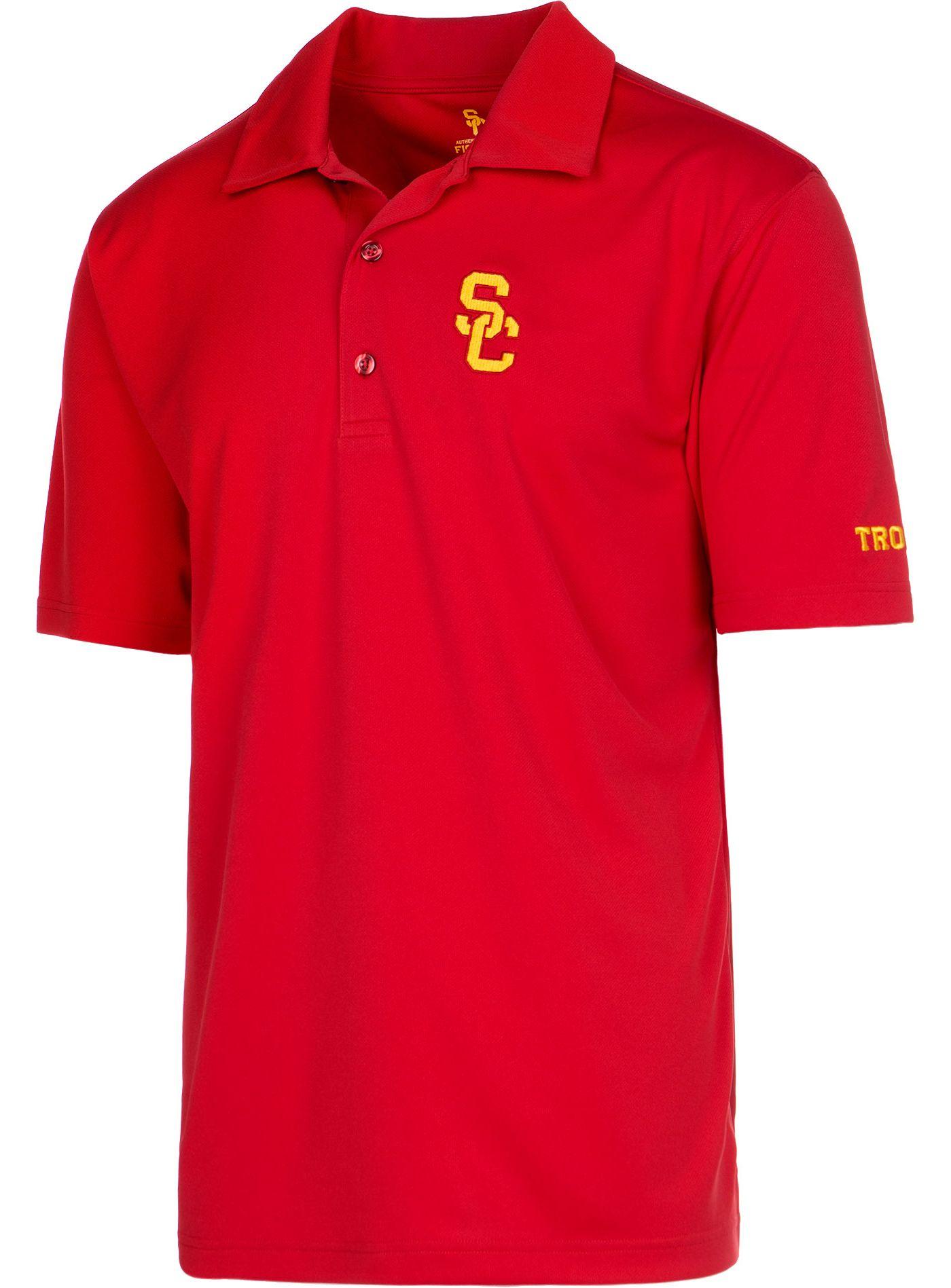 USC Authentic Apparel Men's USC Trojans Cardinal Ambition Polo