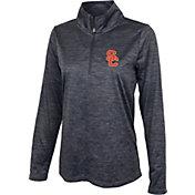 USC Authentic Apparel Women's USC Trojans Grey Quarter-Zip Shirt