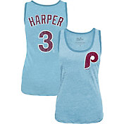 Majestic Threads Women's Philadelphia Phillies Bryce Harper Light Blue Tank Top