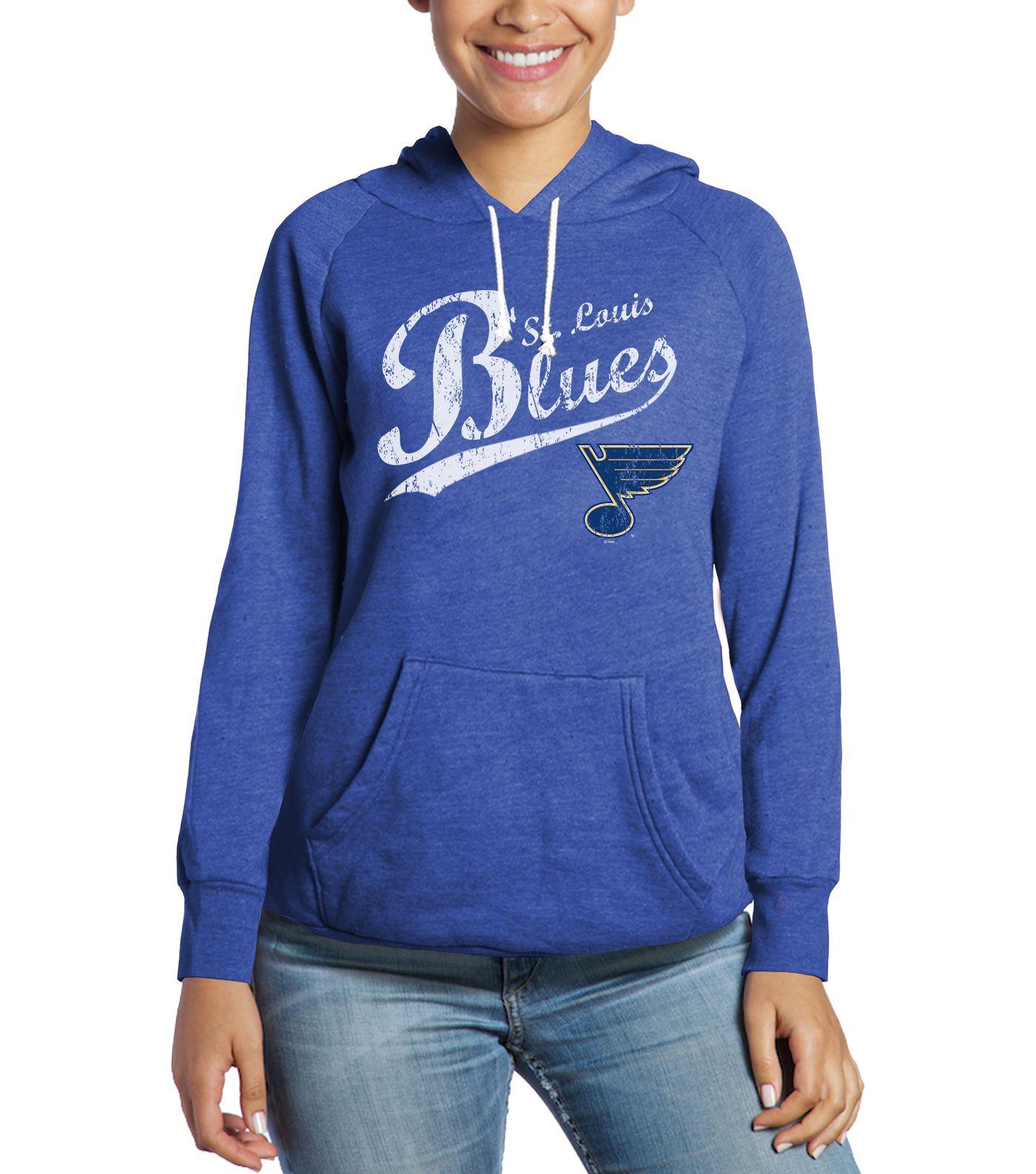 Industry Rag Women's St. Louis Blues NOS Tri-Blend Royal Pullover Hoodie